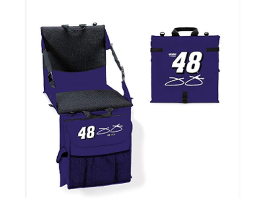NASCAR #48 Jimmie Johnson Cooler Cushion with Seat Back in Navy Blue
