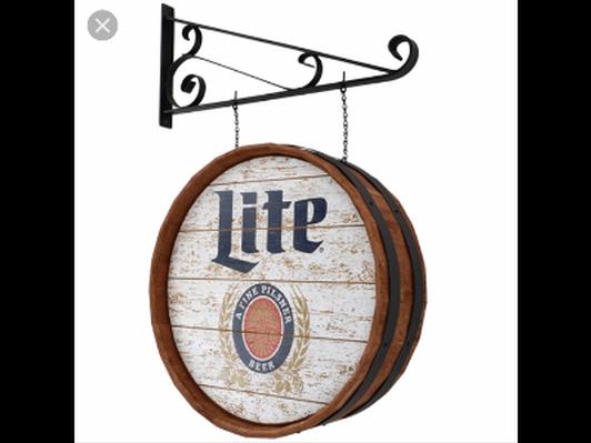 Authentic Miller Lite Pub Sign
