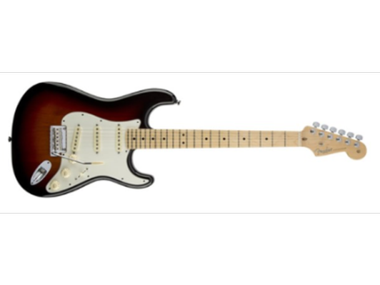 Fender USA made Stratocaster with Sunburst finish, EMG pickups and G&G tweed case