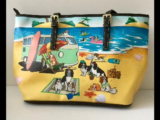 """""""Cavaliers on the Beach"""" Bag RARE!"""
