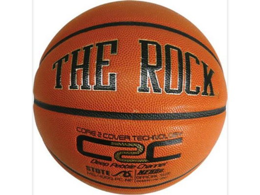 Autographed The Rock Basketball