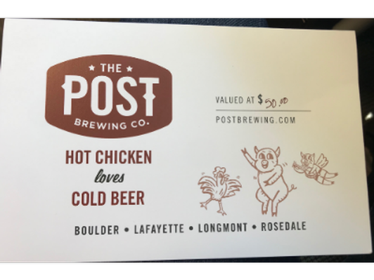 Post Brewing Company Gift Card