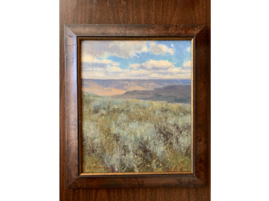 """Original Clyde Aspevig Oil on Linen """"View From the PN Ranch"""""""