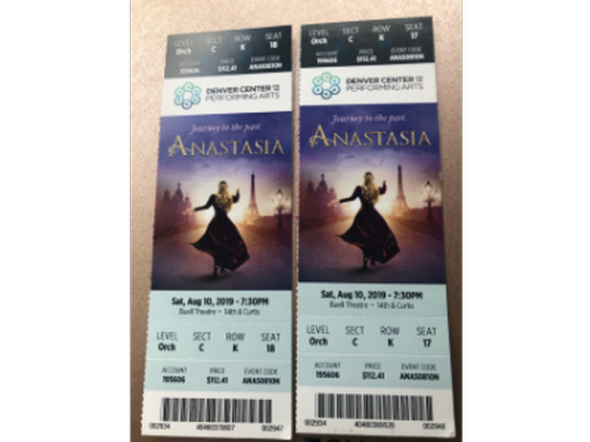 2 tickets to Anastasia