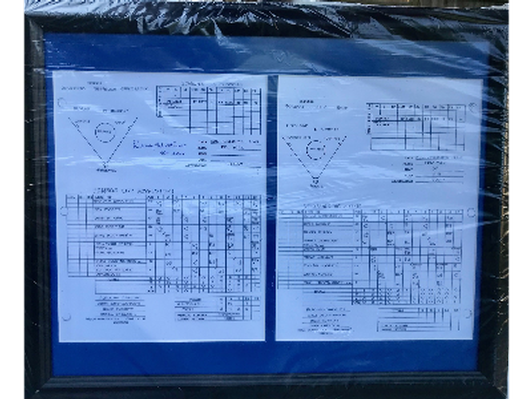 Framed/Signed Denny Matthews World Series Score Sheet