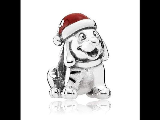"Pandora ""Christmas Puppy"" Charm RETIRED"