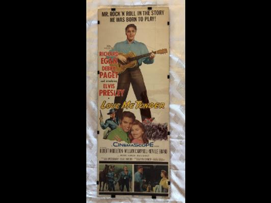 Elvis Love Me Tender Original 1956 Framed Movie Poster