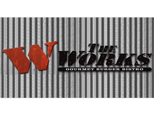 Gift certificate for two Gourmet Works Burgers and two 8oz Shakes donated by The Works Downtown Kingston