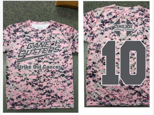Strike Out Cancer Night Jersey #7
