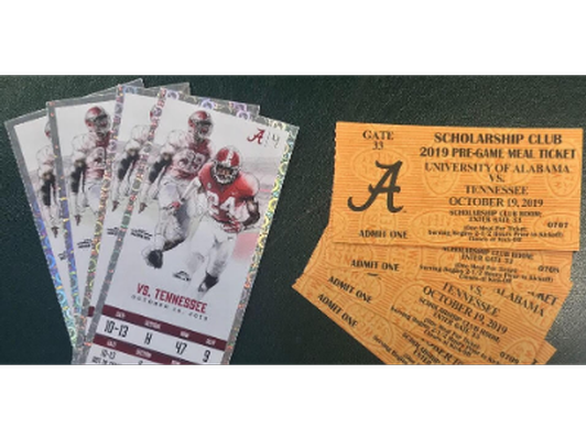 4 Tickets to the Alabama v. Tennessee Game 10/19/19