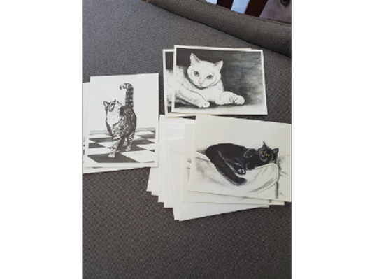 Set of Cat Notecards w/ Envelopes
