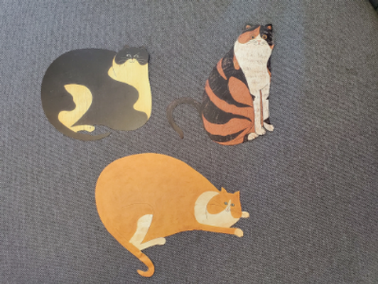 Set of Wallies Wallpaper Cats!