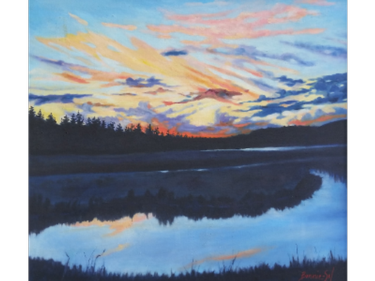 Seawall Pond by Bonnie Sol Hahn