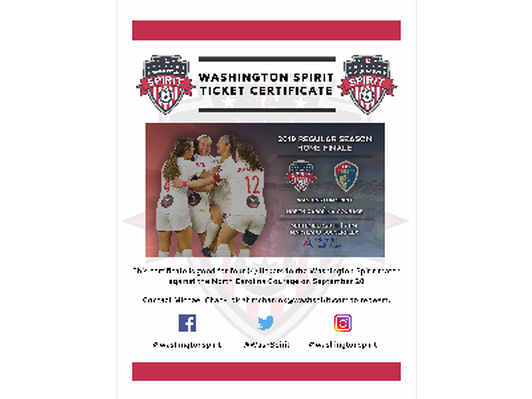 4 Tickets to Washington Spirit vs. North Carolina Courage 9/28