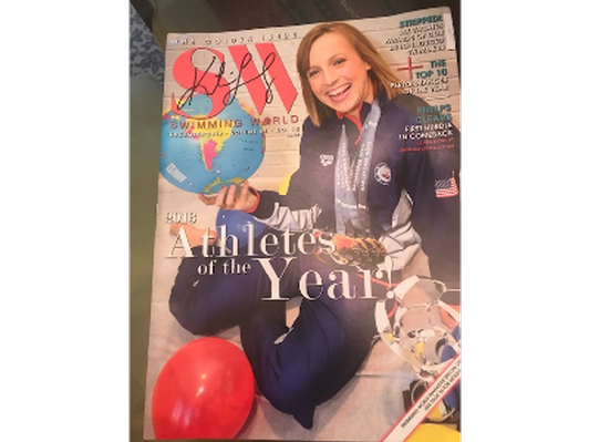 Katie Ledecky Signed Swimming World Magazine