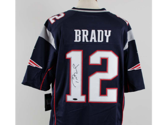 Patriots Fan? Get a Tom Brady Signed Jersey!