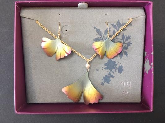 Holly Yashi Gingko Earrings & Necklace