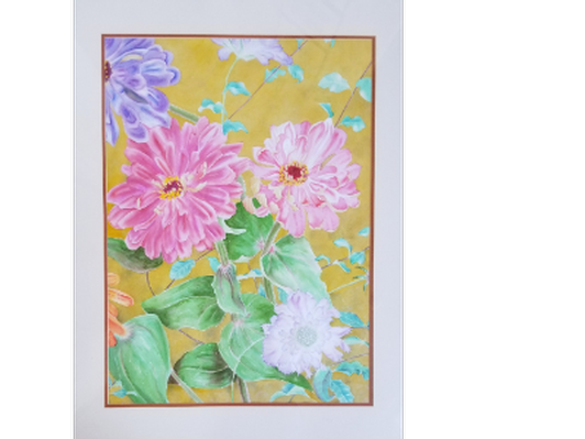 Patricia Sennott Framed Watercolor