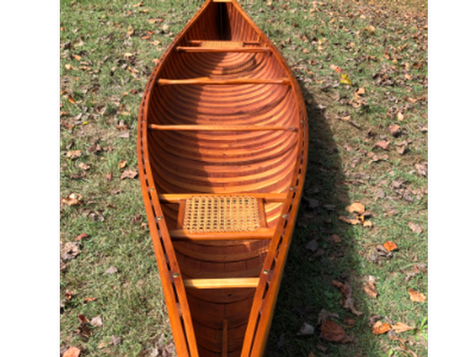 Hosmer Princess Canoe made by Horace Strong and donated by Rita Hennessy '81