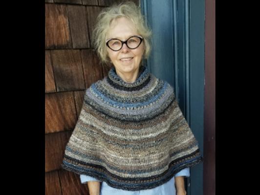Hand-knit Poncho by Rebecca Stauffer