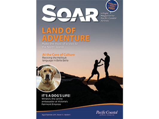 1/4 page full colour display ad for SOAR Magazine 2020