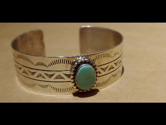 Bracelet: Silver & Turquoise