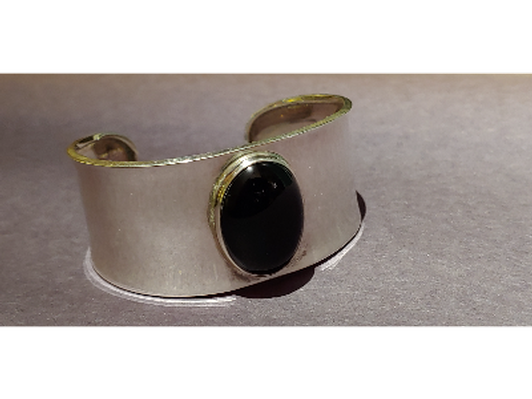 Bracelet: Silver & Black Onyx