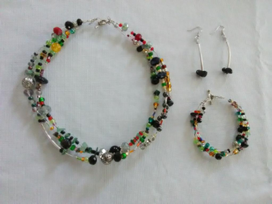 Handcrafted Jewelry (necklace, bracelet and earrings)