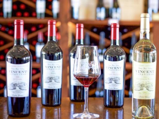 Vincent Vineyards Wine Tasting for Four