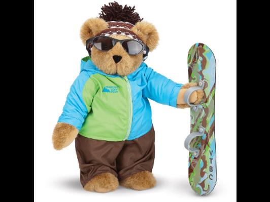 Vermont Teddy Bear-Snowboarding Bear