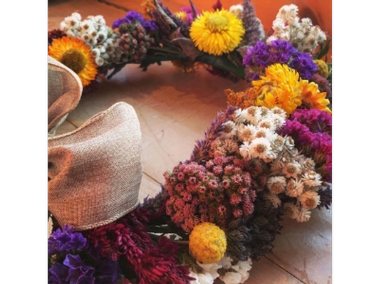 Dried Floral Wreath by Darby Weaver '10
