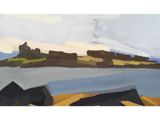 "Kettle Cove 3"" x 5"" Gouache Painting by Jessica Parker Foley '15"