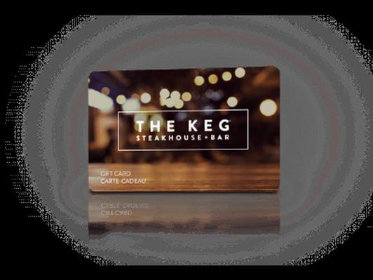 The Keg restaurant gift card for $100