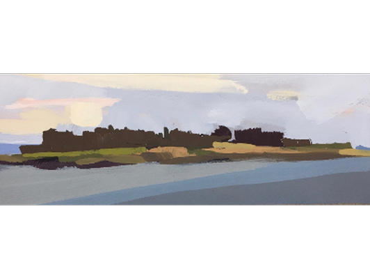 """Kettle Cove II 2"""" x 6"""" Gouache Painting by Jessica Parker Foley '15"""
