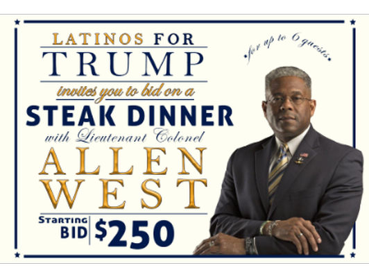 Dinner with Lt. Colonel Allen West