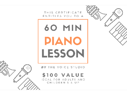 60 Minute Piano Lesson