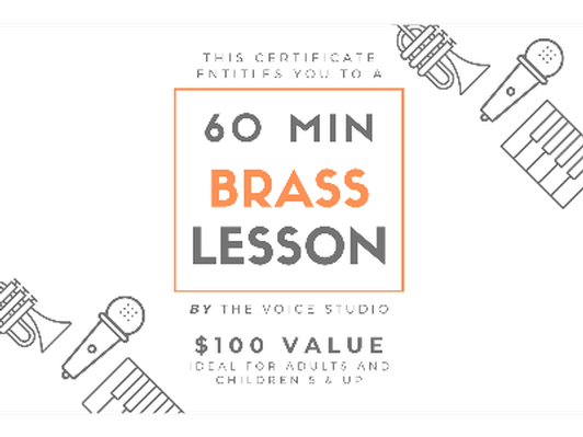 60 Minute Brass Lesson