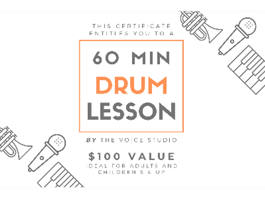 60 Minute Drum Lesson