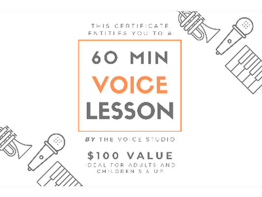 60 Minute Voice Lesson