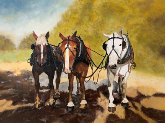 Three Abreast in Waiting by Malaika Whitney '14