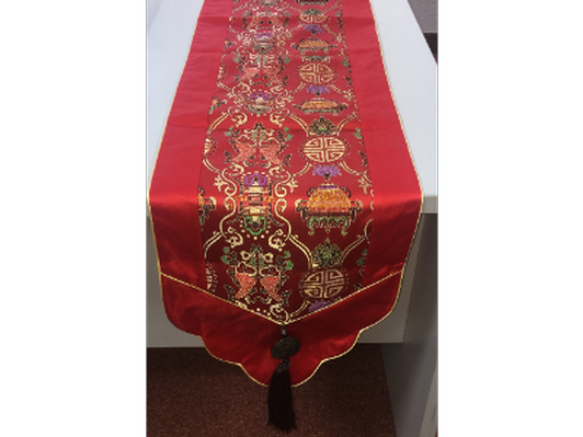 Chinese Silk Table Runners with Jade embellishments (FVF)