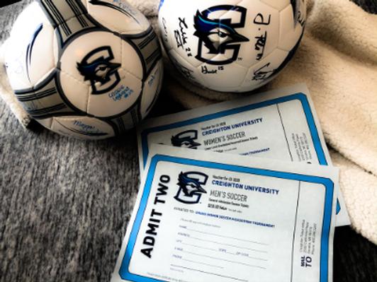 Signed Creighton Memorabilia and Season Soccer Tickets