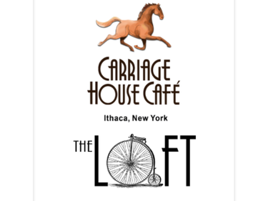 $25 to Carriage House Cafe or The Loft
