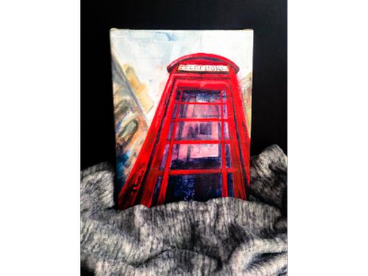 Painting - London Phone Booth