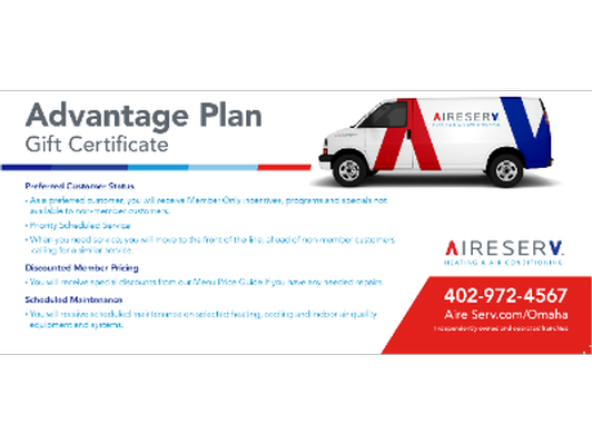 Advantage Plan Gift Certificate - Home Maintenance