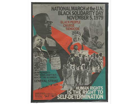 National March at the U.N. / Black Solidarity Day / November 5, 1979 / Black People Charge Genocide