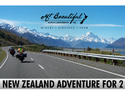 New Zealand, Adventure-Meets-Luxury for 2, with 7 Day Bike Rental