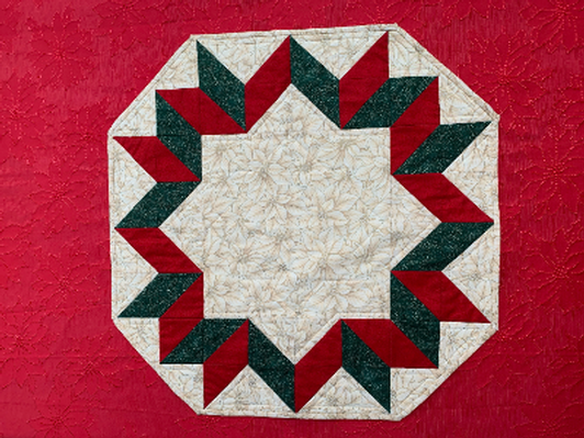 Christmas Quilted Octagon table topper