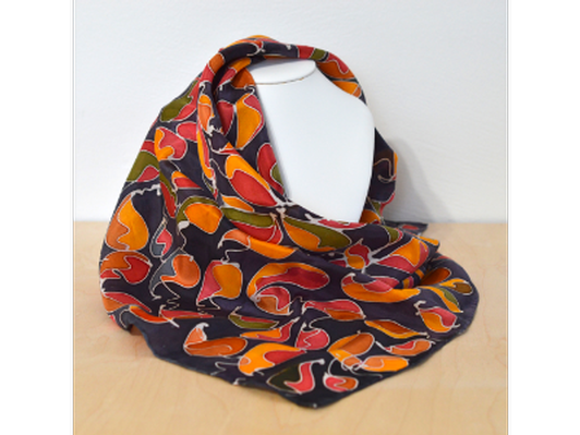 Silk Scarf - By artist Ronald Bunch (large)