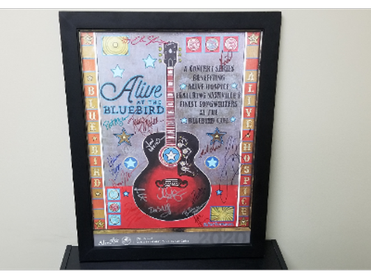 2020 Alive at the Bluebird Framed Autographed Poster